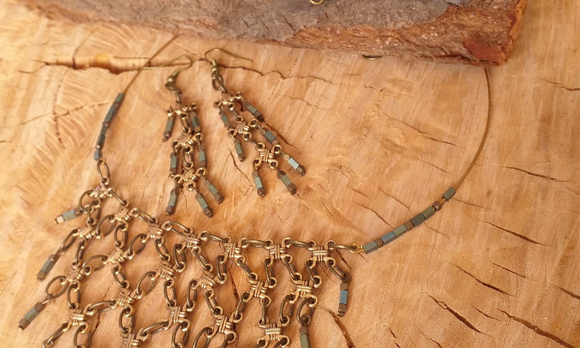 Chainmail necklace SET