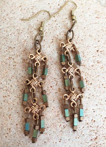Chainmail necklace SET earrings