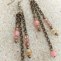 Glass bead chocker necklace SET earrings