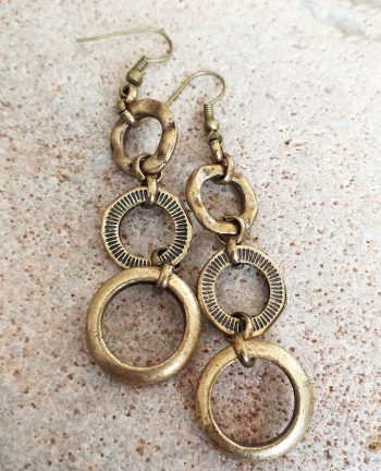 Leather and bead necklace SET earrings
