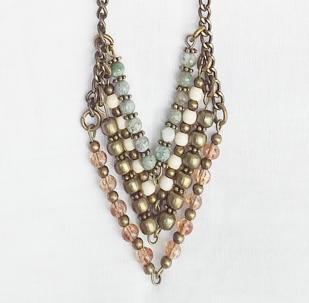Product pic beaded chevron necklace thumbnail