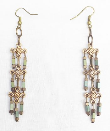 Product pic chainmail necklace earrings