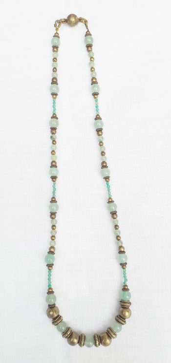 Product pic green aventurine polished bead necklace