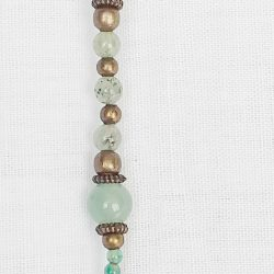 Product pic green aventurine polished bead necklace bracelet