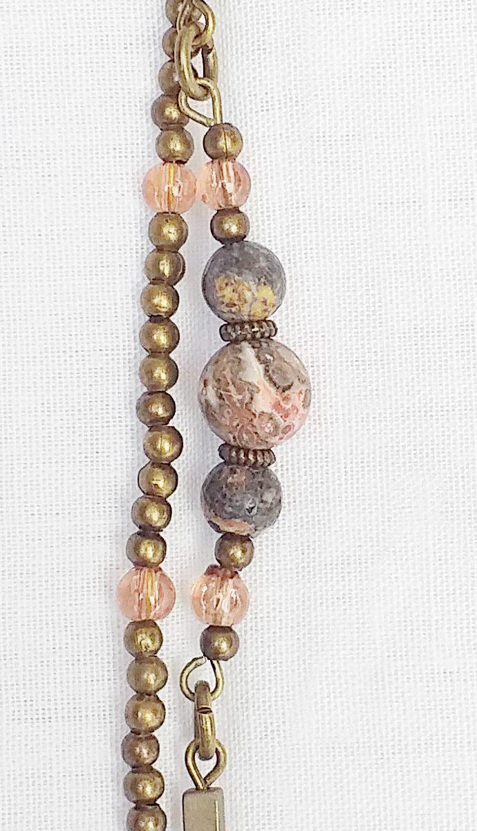 Product pic unakite jasper necklace bracelet