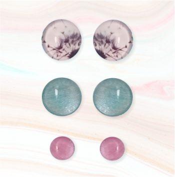 cabouchon earrings dandelion