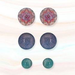 cabouchon earrings mandala