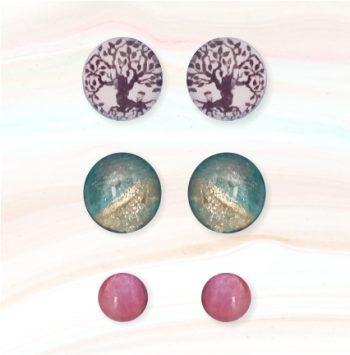 cabouchon earrings tree of life