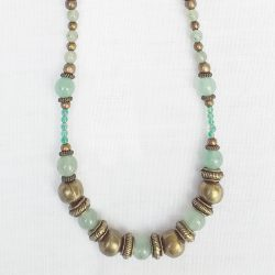 Product pic green aventurine polished bead necklace thumbnail