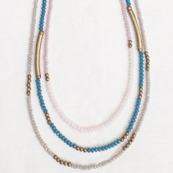 Product pic leather and bead necklace thumbnail