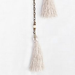 Product pic long beige tassel necklace thumbnail